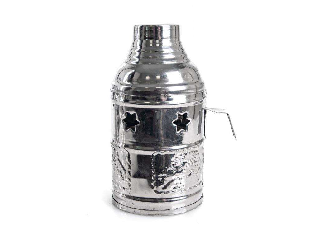 Tarbuš pre vodné fajky Top Mark 16 cm strieborný
