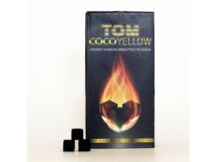 Uhlíky do vodnej fajky Tom Coco 3 kg Yellow