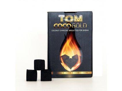 Uhlíky k vodnej fajke Tom Coco 1 kg Gold