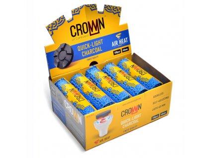Uhlíky do vodnej fajky Carbopol Crown 40 mm 10 valčekov