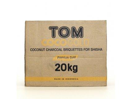 Uhlíky k vodnej fajke Tom Coco 20 kg Gold