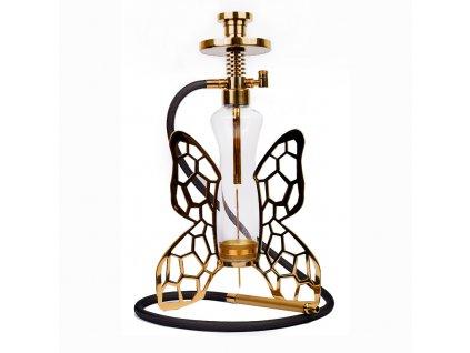 Vodná fajka Hi-Tech Butterfly Gold 55 cm