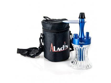 Vodná fajka Aladin 2Go ALU Blue 23 cm Clear