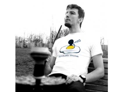 Tričko pánske Dýmkařův žloutek biela S