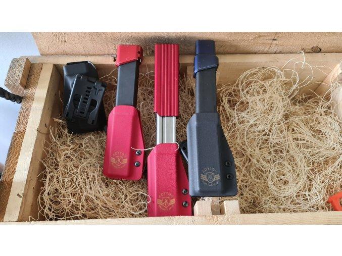 pouzdro pro PCC zásobník, Glock zásobník 30 ran, červená
