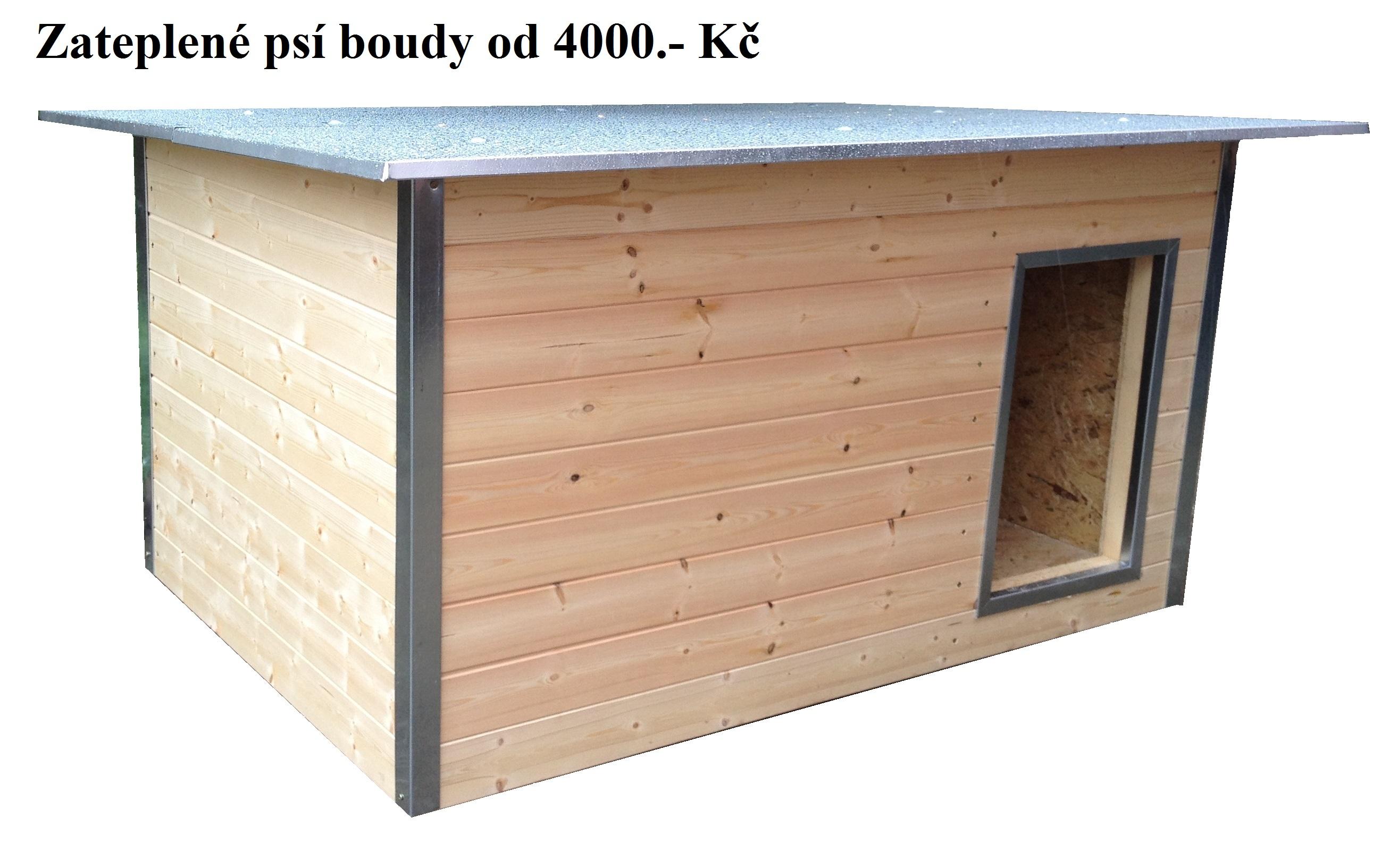 Zateplené psí boudy