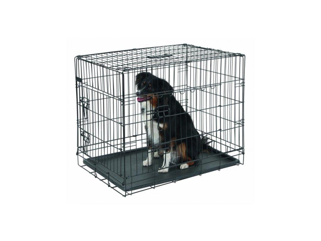 Přepravní box, klec do auta pro psy, 63x48x57cm, 1 dveře