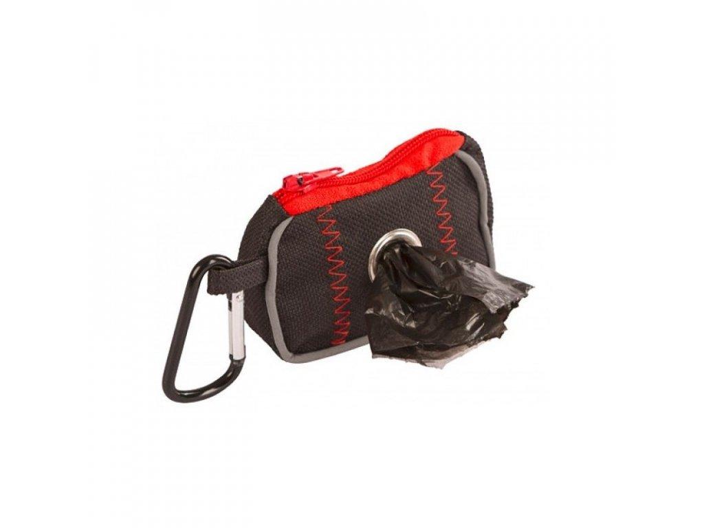 kerbl pouzdro na sacky na psi trus s karabinou textilni