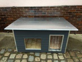 psí bouda rozárka large okno tmavě šedá