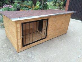 Psí bouda Larry large dub s verandou zateplená praha vrátka