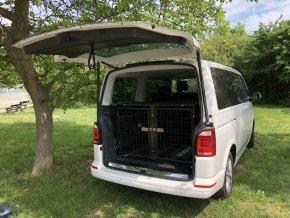 Transportní klec masivní železná pro dva psy
