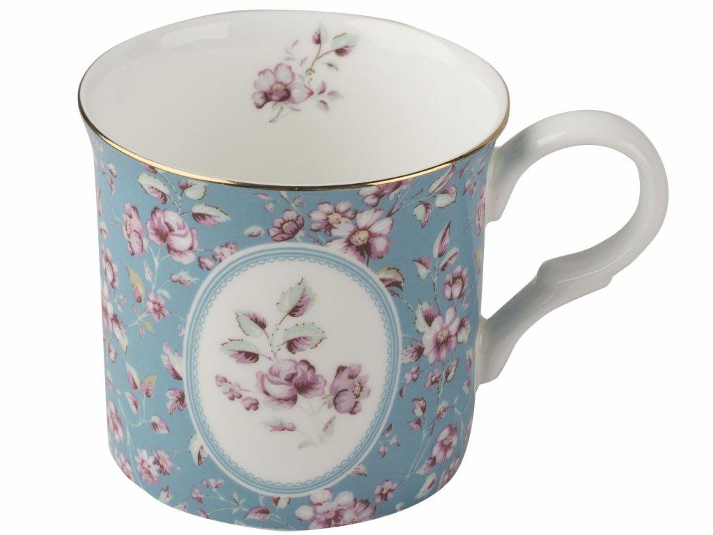 Creative Tops - Porcelánový hrnek Teal Ditsy ve Vintage stylu od Katie Alice - 230 ml