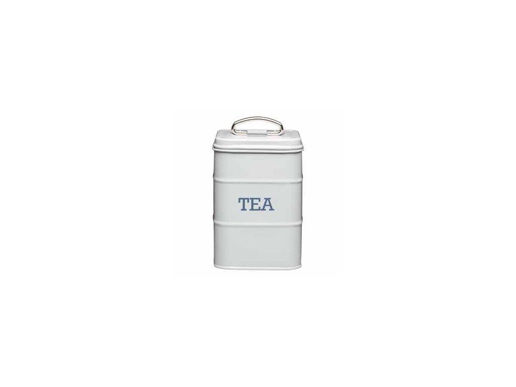 Kitchen Craft - Plechová dóza Living Nostalgia na čaj ŠEDÁ