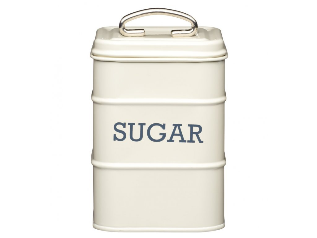 Kitchen Craft - Plechová dóza Living Nostalgia na cukr - krémová