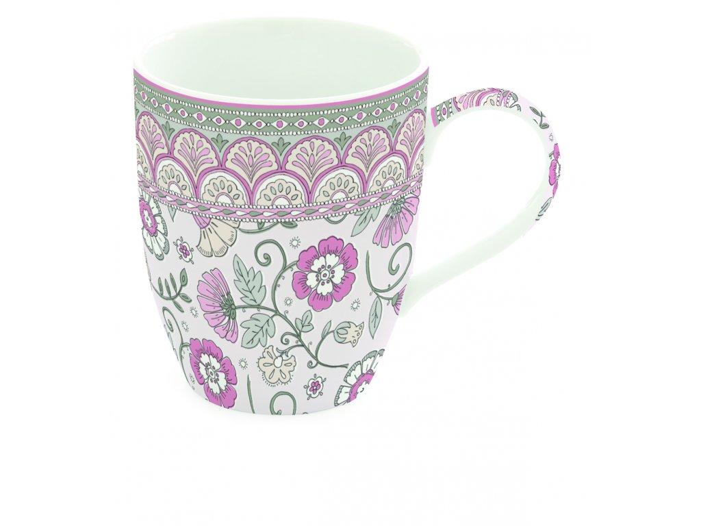 Easy Life - Porcelánový hrnek Kalamkari růžový - 350 ml
