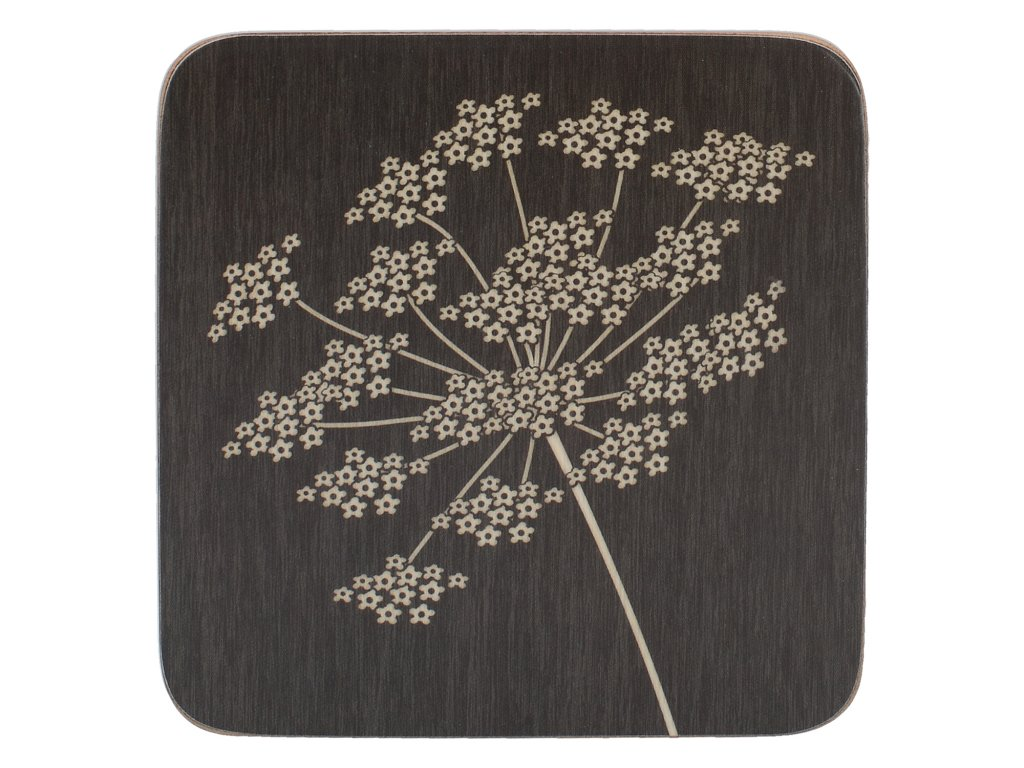 Creative Tops - Korkové podložky pod skleničky Silhouette /10,5*10,5 cm/ - 6 ks v balení