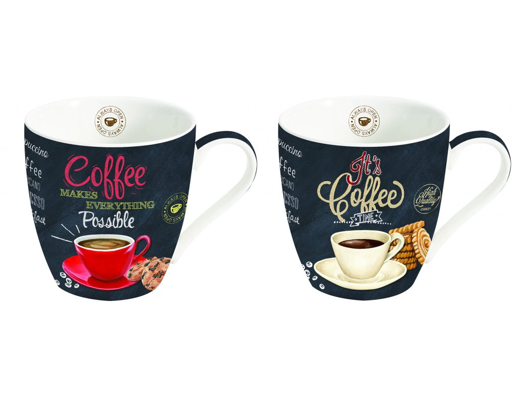 Easy Life - Porcelánové hrnky na kávu It´s Coffee Time - 2*350 ml