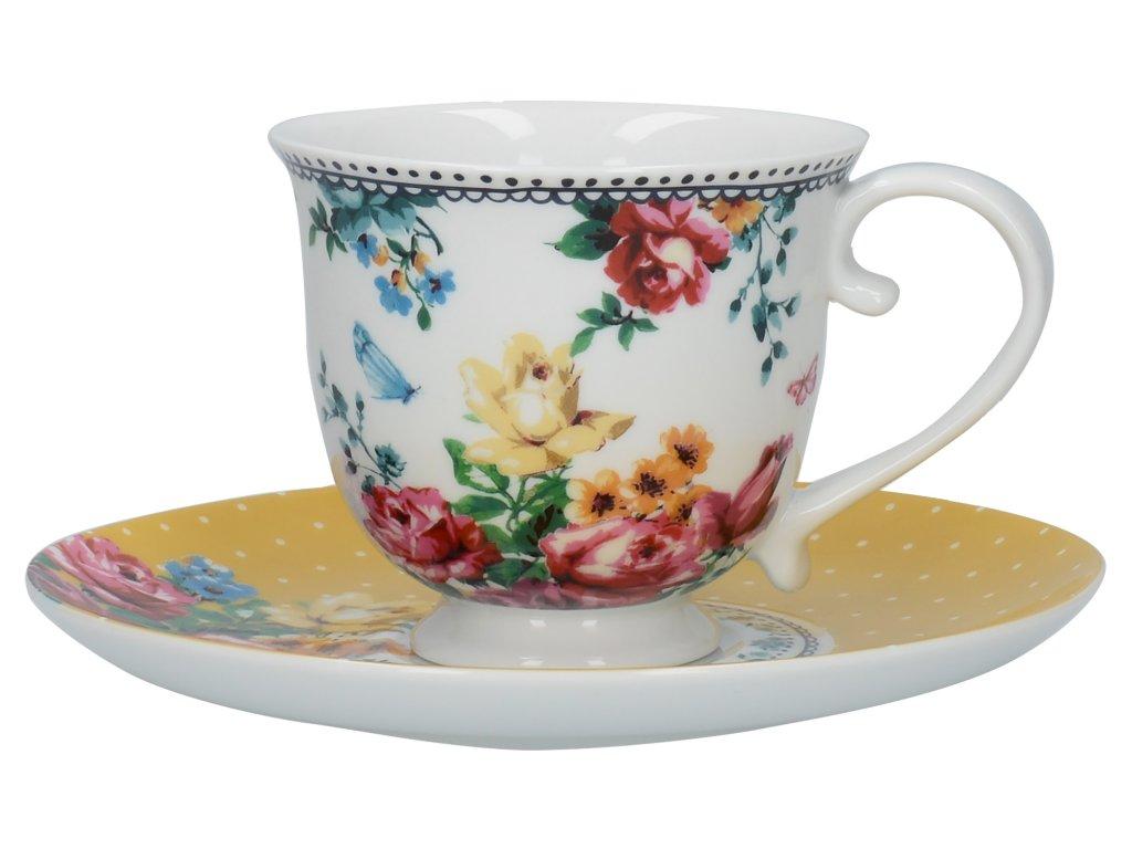 Creative Tops - Porcelánový šálek a podšálek Bohemian Spirit od Katie Alice - 200 ml