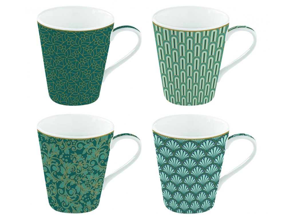 Easy Life - Porcelánové hrnky na kávu Eden - 4*300 ml