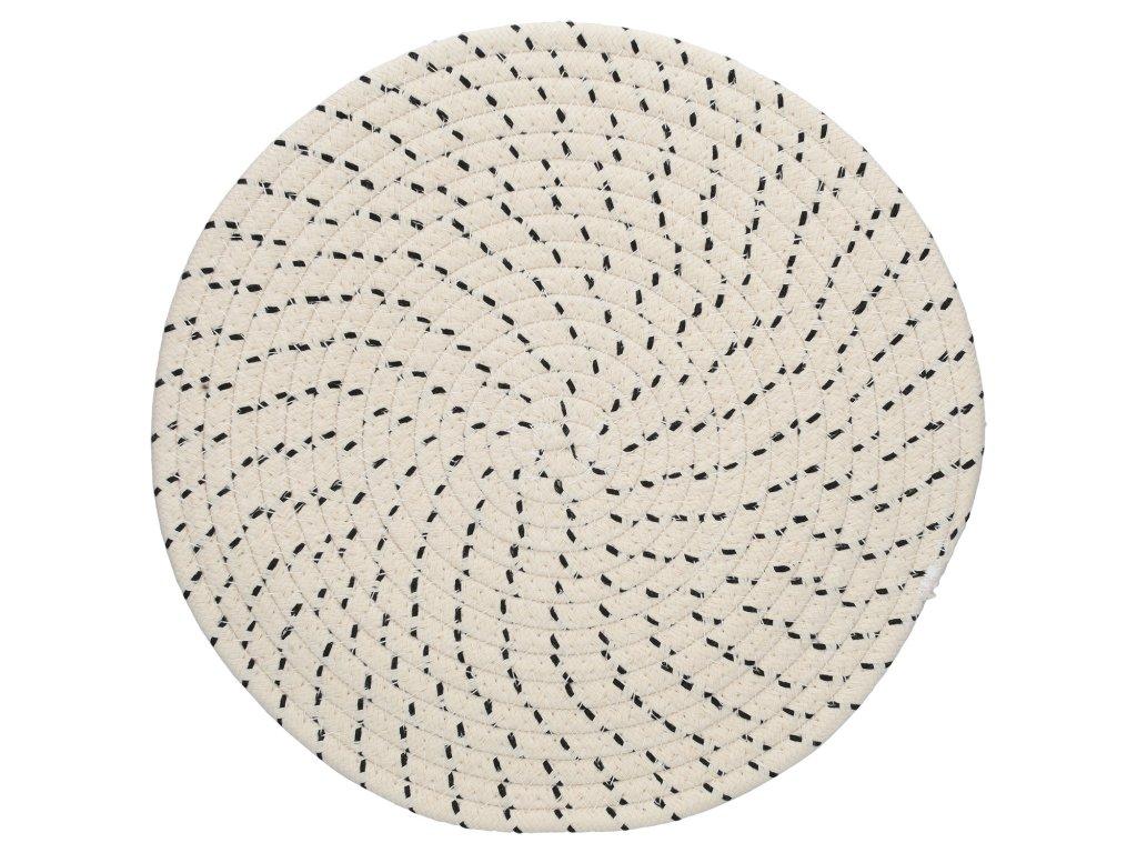 Creative Tops - Kulaté prostírání Naturals Rope Effect /38*38*1 cm/ - 2 ks v balení
