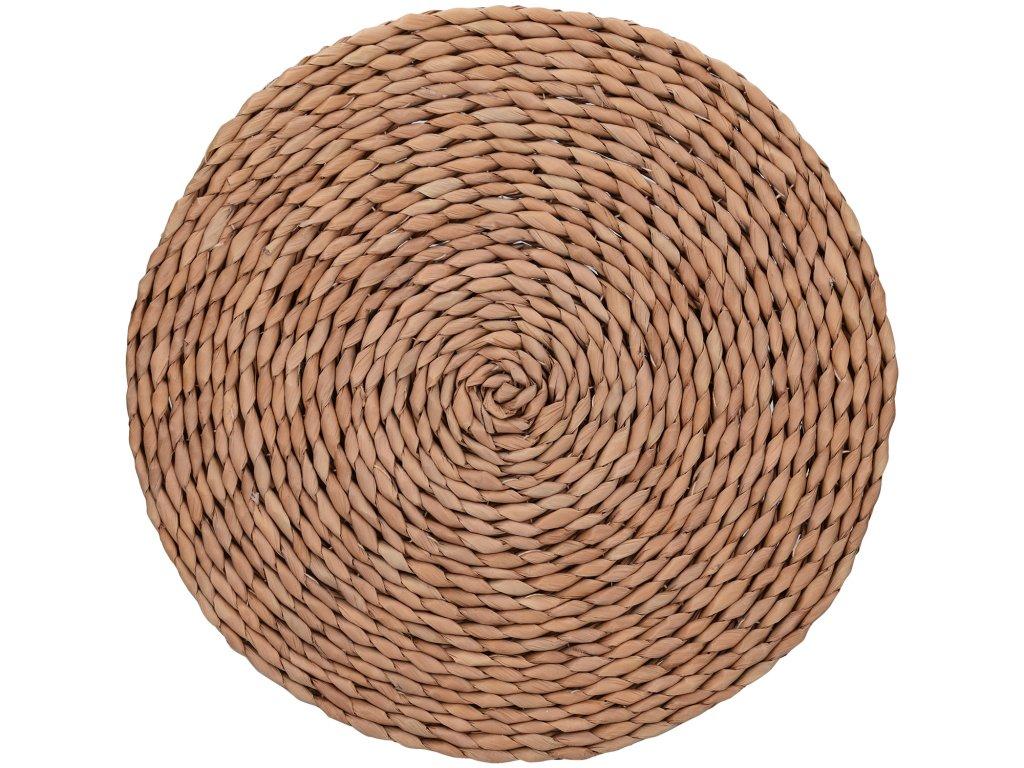 Creative Tops - Kulaté prostírání Naturals Woven Brown /38*38*1 cm/ - 2 ks v balení