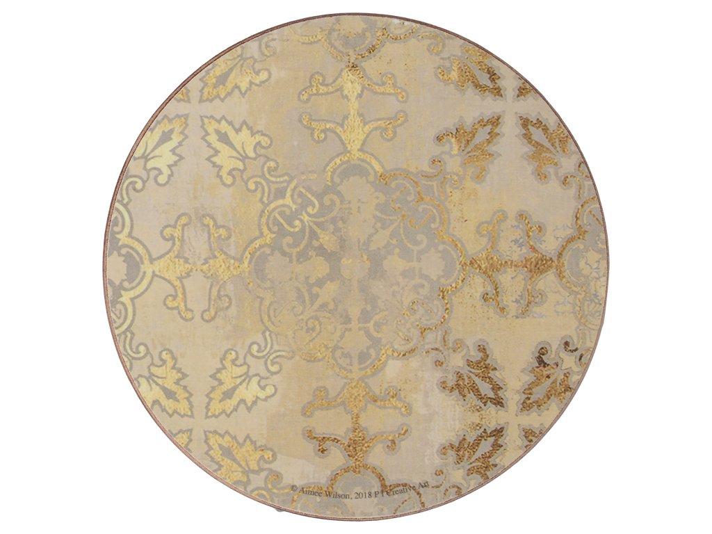 Creative Tops - Korkové podložky Gold Impressions kulaté /10,5*10,5 cm/- 4 ks v balení