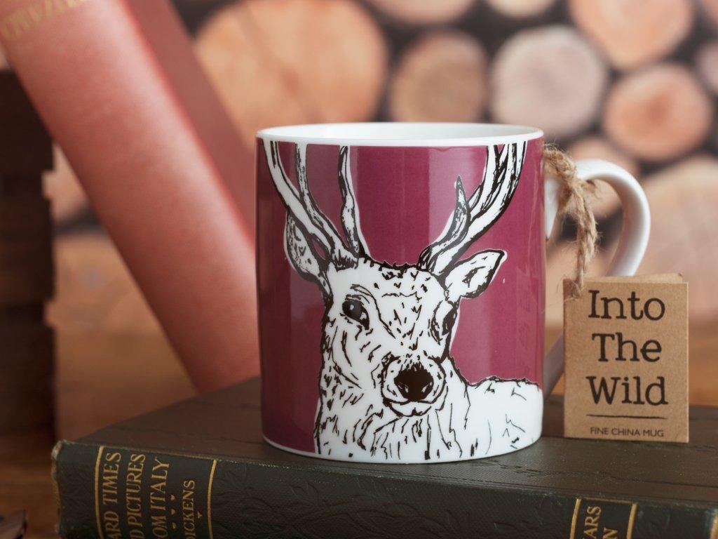 Creative Tops - Porcelánový hrnek Into The Wild s jelenem /8*11*9 cm/ - 300 ml
