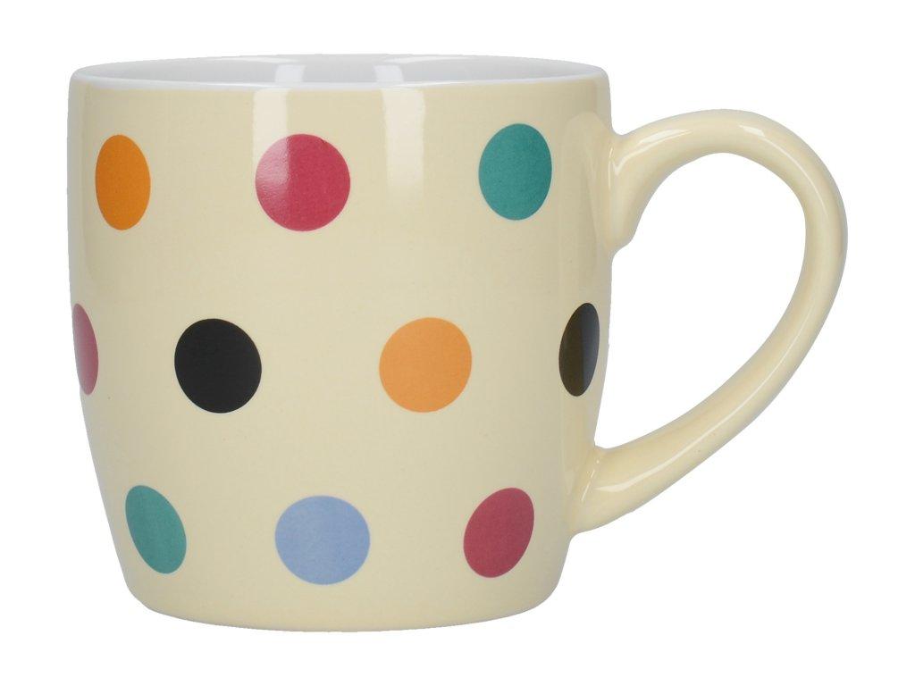 Creative Tops - Keramický krémový hrnek s barevnými puntíky London Pottery /13*8,7*9 cm/