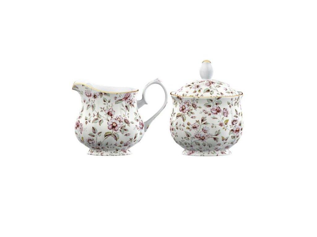 Creative Tops - Porcelánová mléčenka a cukřenka White Floral
