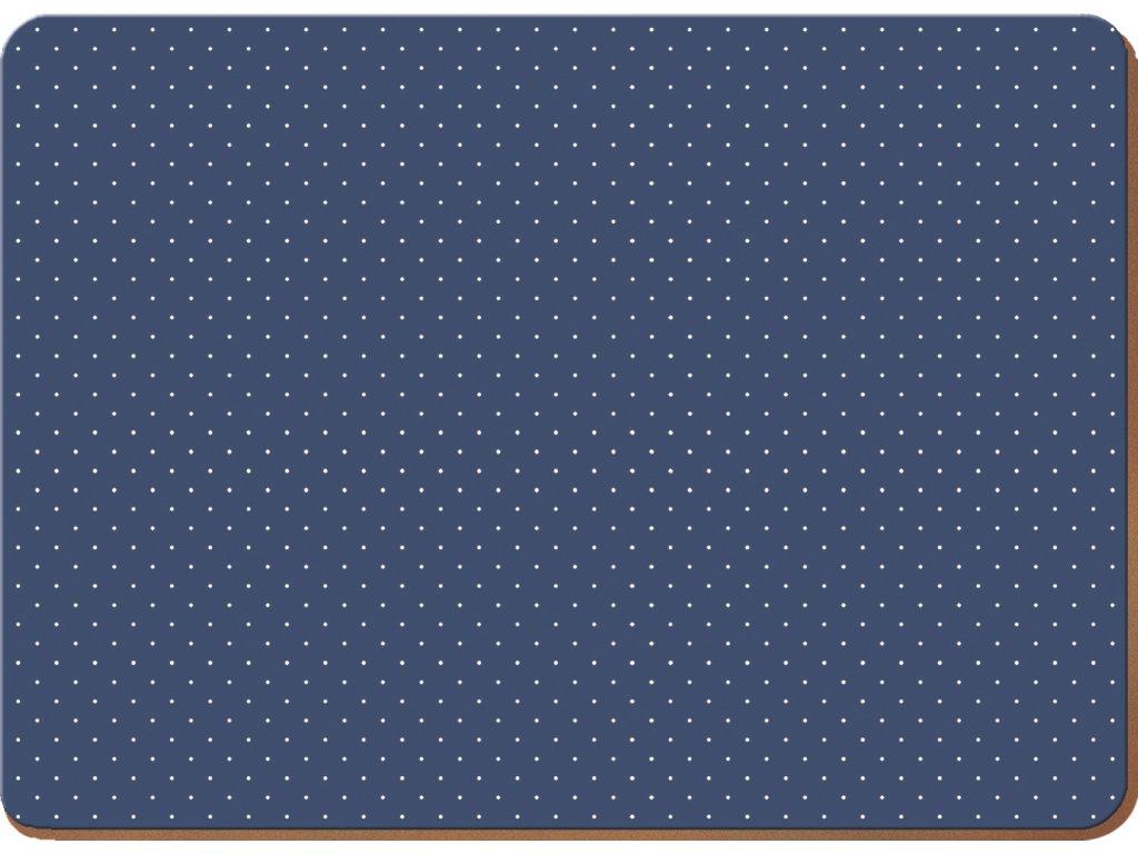 Creative Tops - Korkové prostírání Vintage Indigo velké /40*29 cm/ - 4 ks v balení