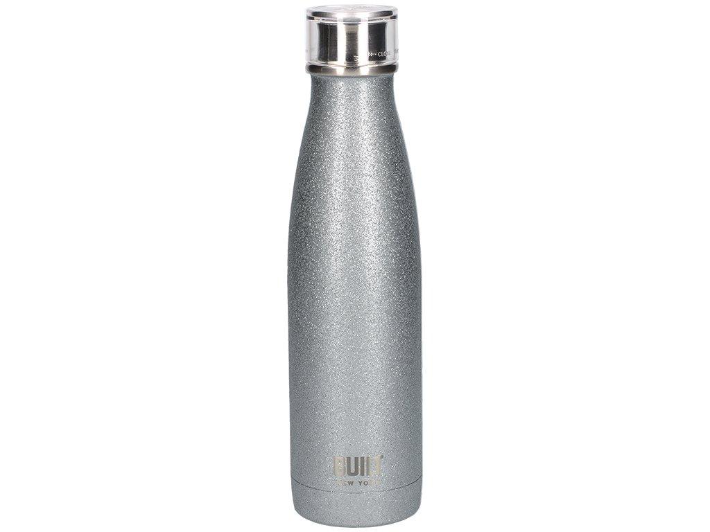 Creative Tops - Láhev na vodu Built stříbrná se třpytkami - 480ml