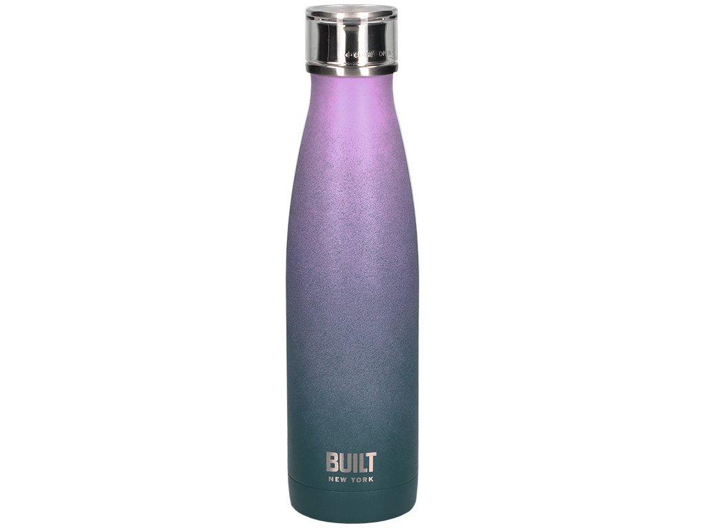 Láhev na vodu Built fialová duhová