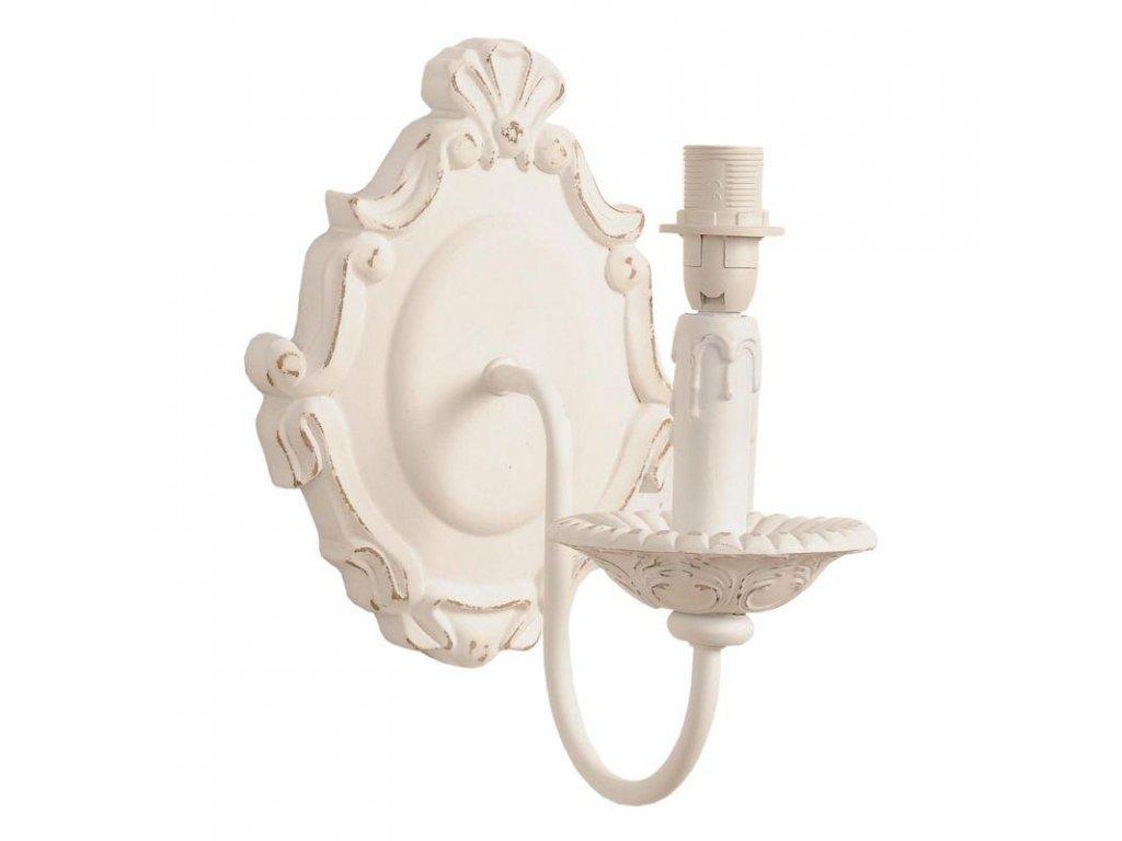 Clayre & Eef - Nástěnná lampa bez stínítka ve stylu provence - 9*25*24 cm E27 / Max 60W