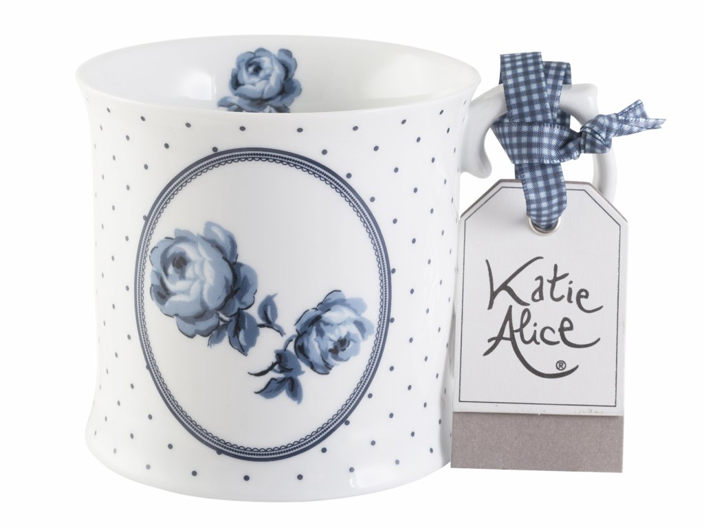 Creative Tops - Porcelánový hrnek Vintage Indigo Floral Spot od Katie Alice -  /9*13*10 cm/ - 400 ml