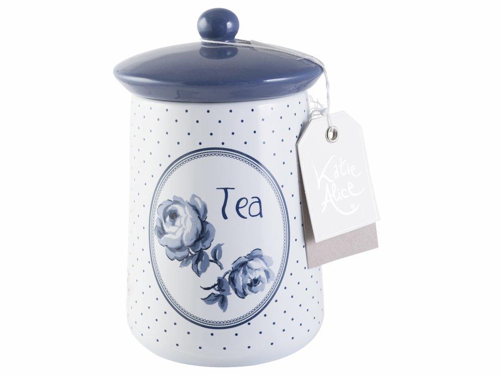 Keramická dóza na čaj Vintage Indigo od Katie Alice