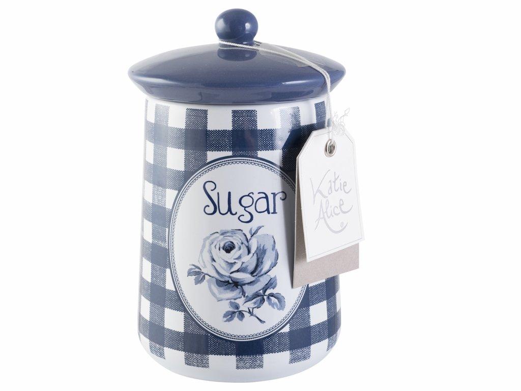 Creative Tops - Keramická dóza na cukr Vintage Indigo /9*9*16 cm/