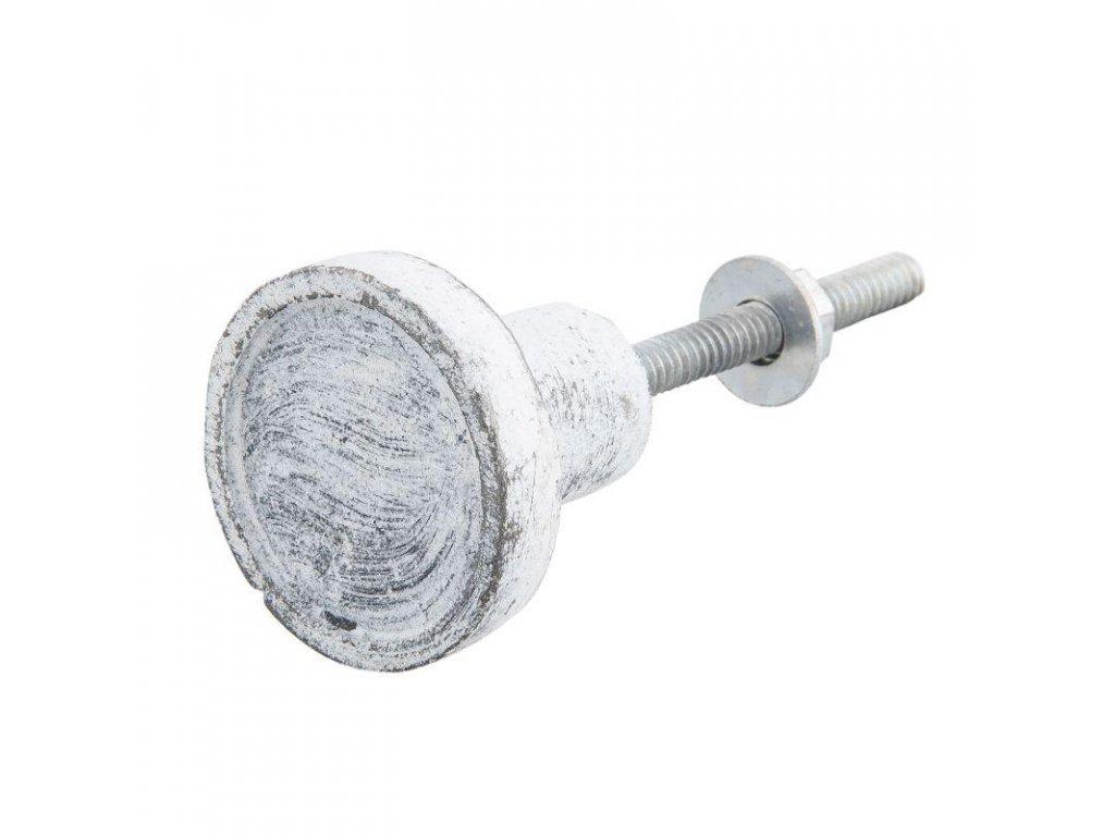 Clayre & Eef - Kovová nábytková úchytka patinovaná - Ø 3*3 cm