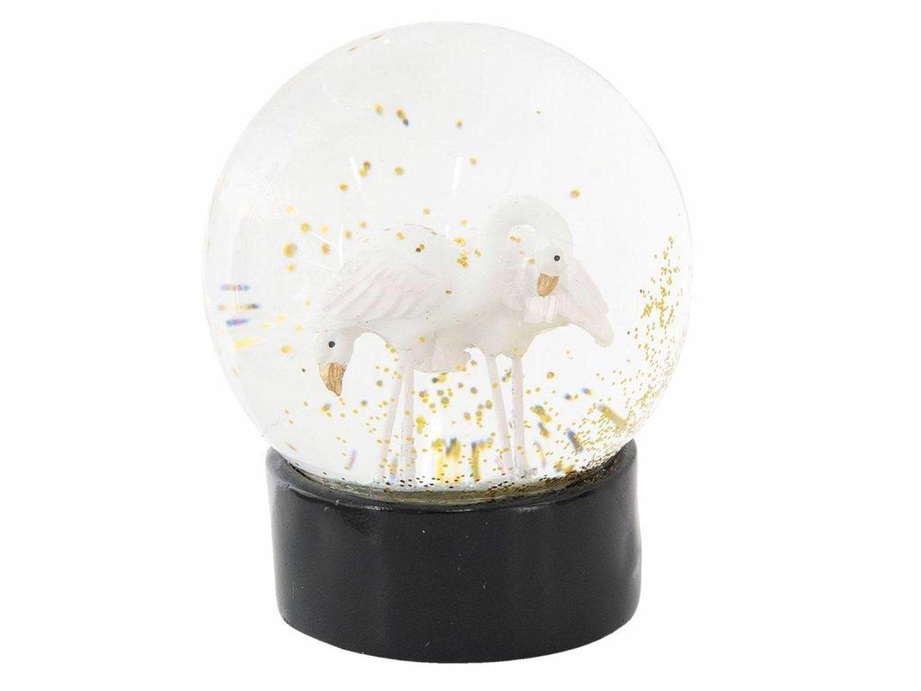 Clayre & Eef - Sněžítko s labutěmi - Ø 10*13 cm