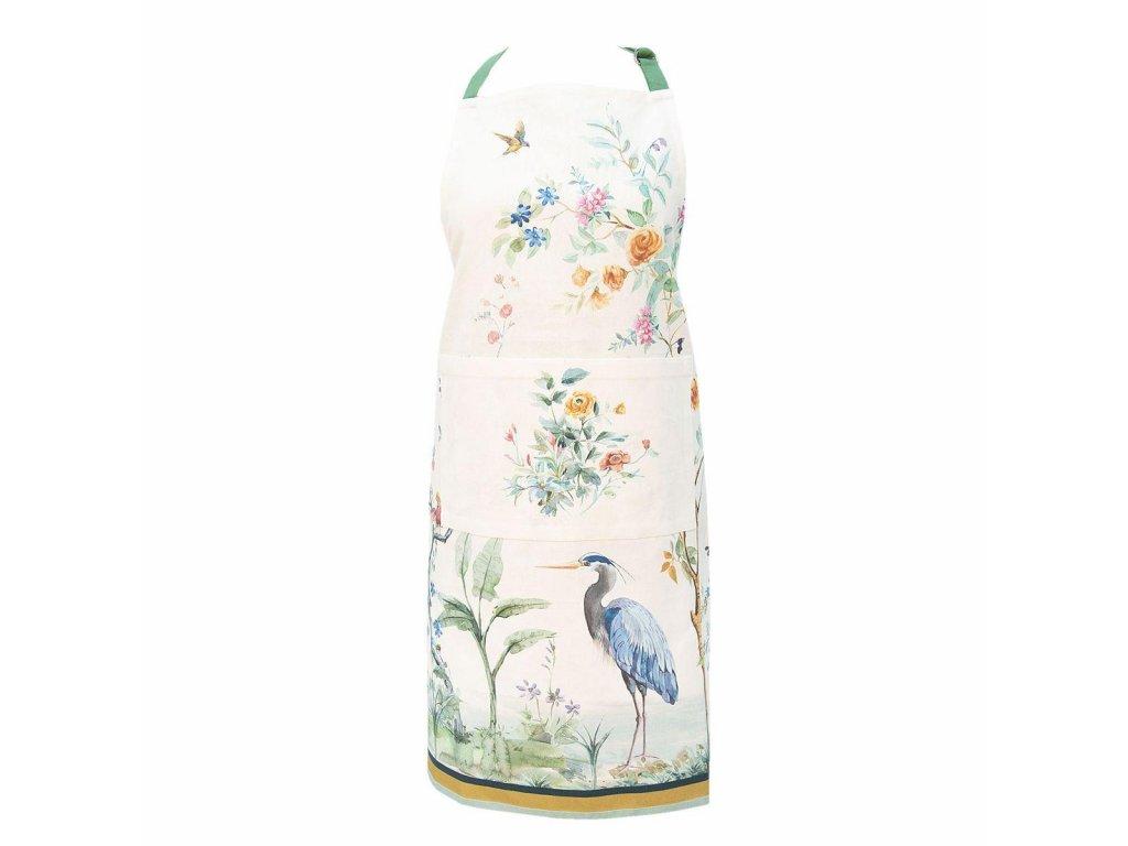 Clayre & Eef - Kuchyňská zástěra Birds in Paradise - 70*85 cm