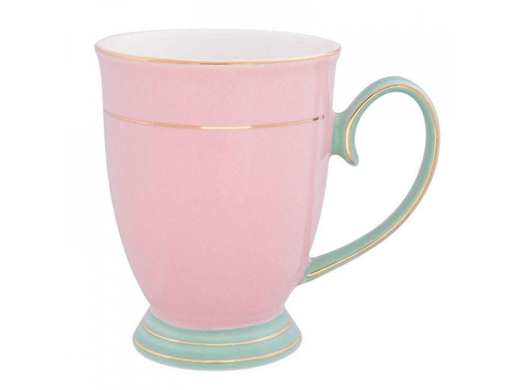 Clayre & Eef - Hrníček v růžové barvě - 12*8*11 cm / 0.25 L