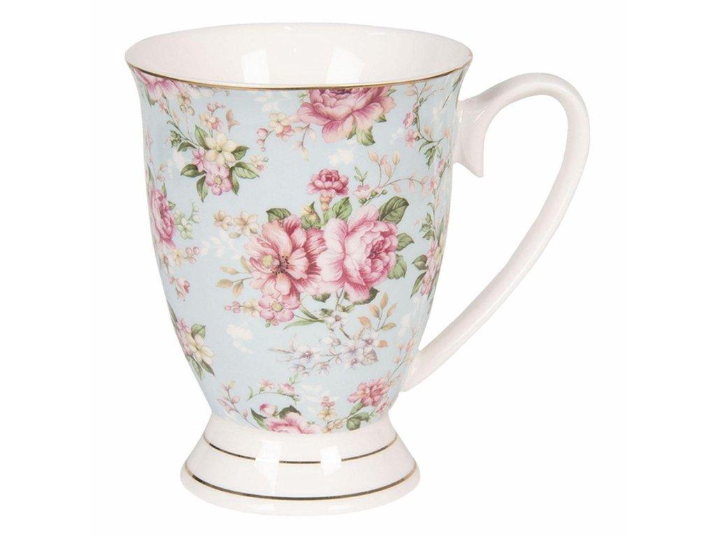 Clayre & Eef - Porcelánový hrníček - 11*8*10 cm / 0,3L