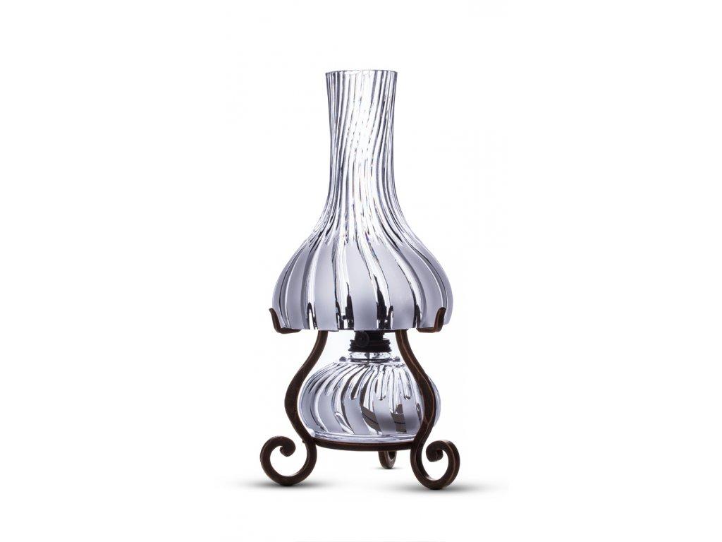 Ručně broušená petrolejová lampa VLNA - 37*18 cm