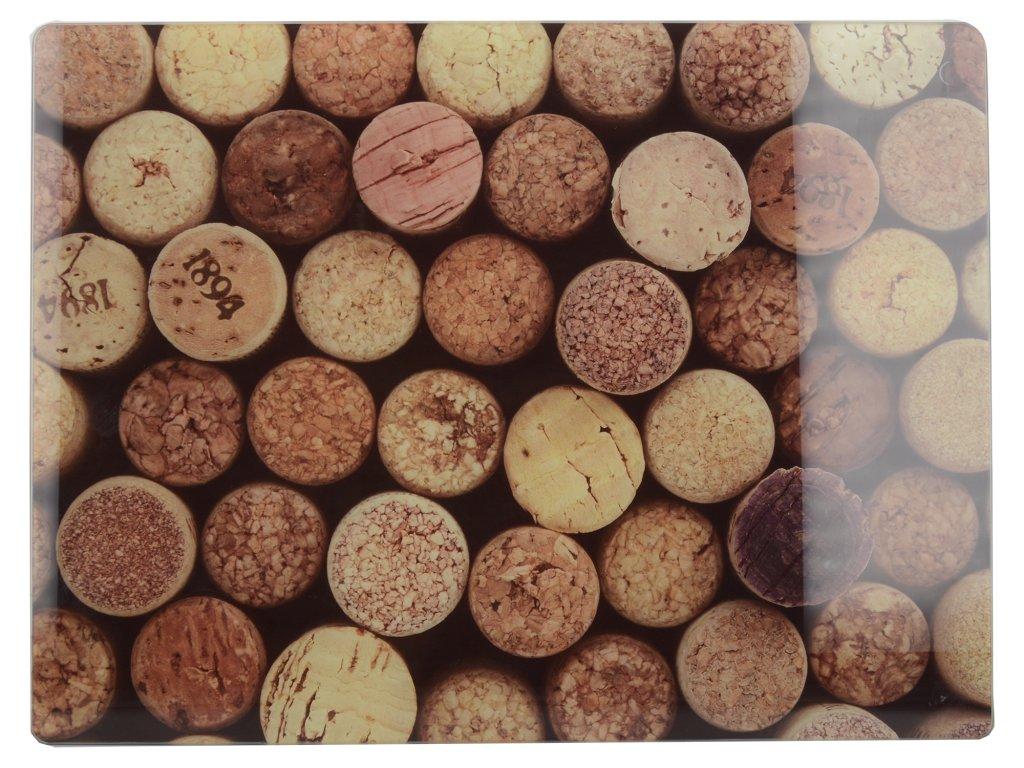 Creative Tops - Skleněné krájecí prkénko Cork - 40*30 cm