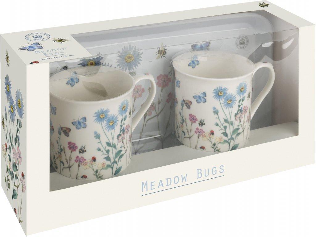 Creative Tops - Porcelánové hrnky s táckem Meadow Bugs - 230 ml