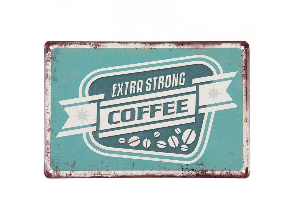 Clayre & Eef - Plechová cedule COFFEE - 30*20 cm