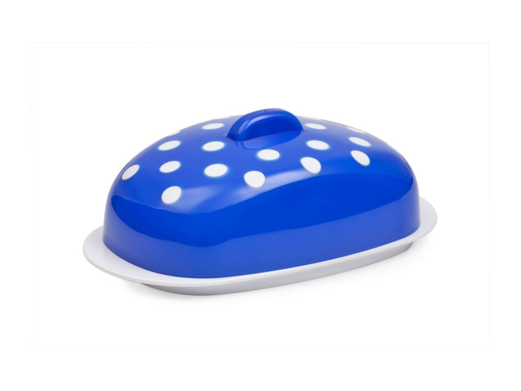 Máslenka - MARUSYA modrá 19x10,8x7,1cm, plast