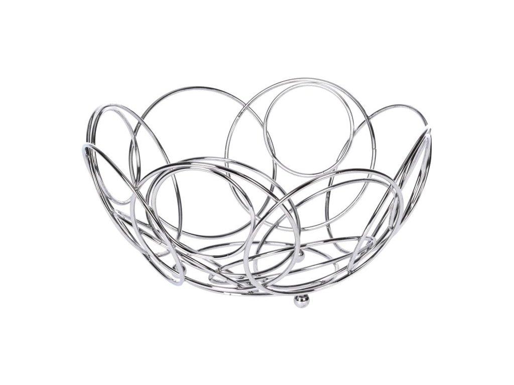 Košík na ovoce - d25cmx13cm drát.na ovoce, chrom