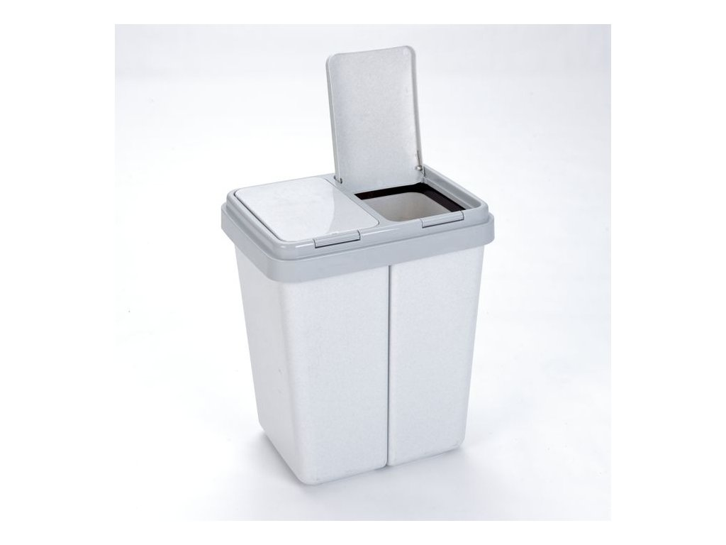 Odpadkový koš na tříděný odpad - 2x23l tříděný odp.