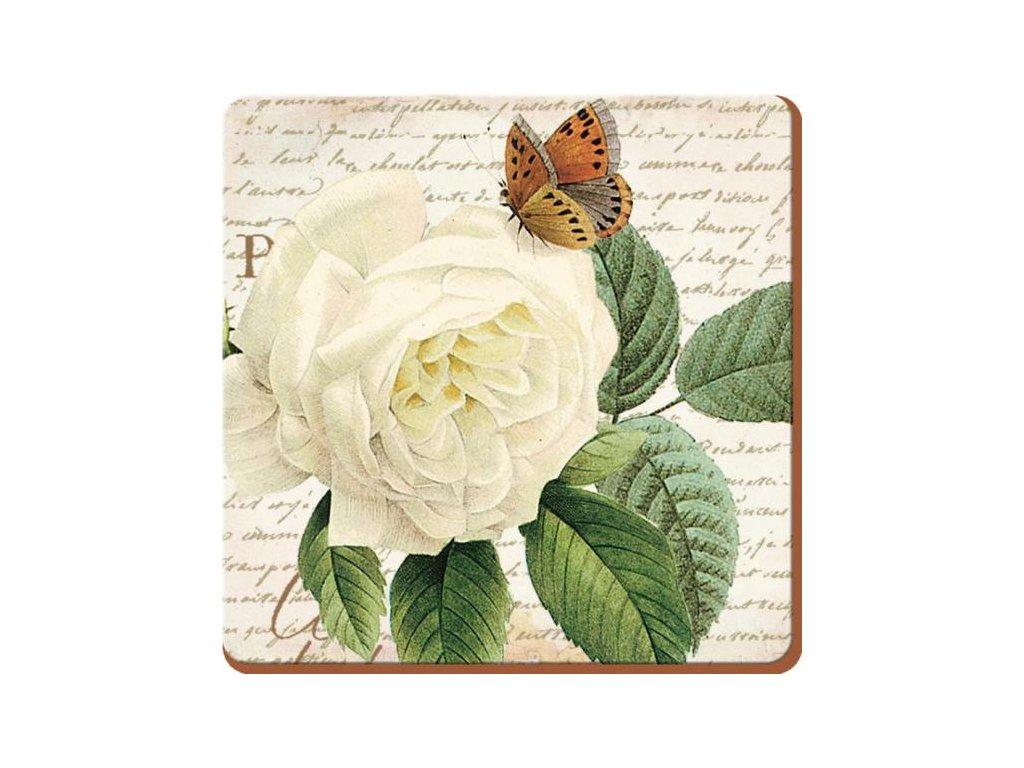 Creative Tops - Korkové prostírání pod skleničky Rose Garden /10*10 cm/ - 6 ks v balení
