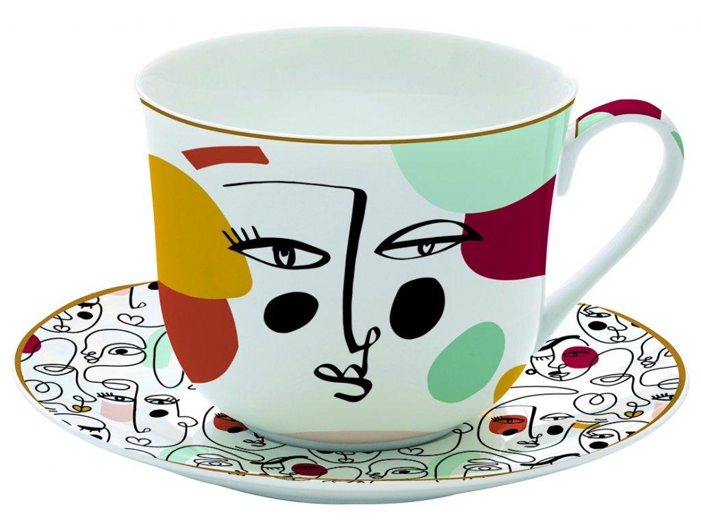 Easy Life - Porcelánový hrnek s podšálkem Modernism - 400 ml
